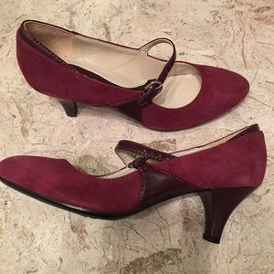 Suede Mary Jane Medium Heel Pump N5 Comfort New